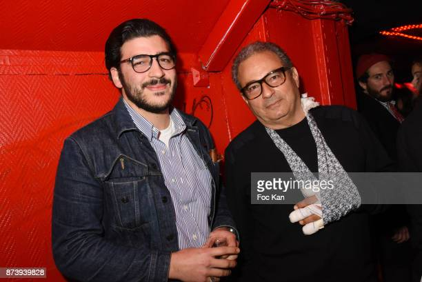 Chef Pierre Touitou from Vivant restaurant and his father Jean Touitou fashion designer from APC attend 'Les Fooding 2018' Cocktail at Les Follies...