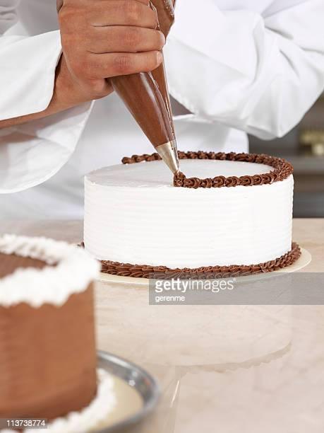 Chef piping cream