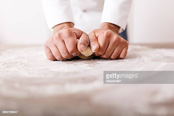 Chef preparing dough for ravioli