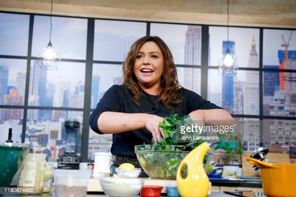 Chef Rachael Ray onstage during a culinary demonstration at the Grand Tasting presented by ShopRite featuring Culinary Demonstrations at The IKEA...