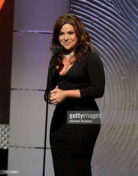 Chef Rachel Ray speaks onstage during the 40th Annual Daytime Emmy Awards at the Beverly Hilton Hotel on June 16 2013 in Beverly Hills California...