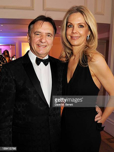 Chef Raymond Blanc and Natalia Traxel attend a gala evening celebrating Old Russian New Year's Eve in aid of the Gift Of Life Foundation at The Savoy...
