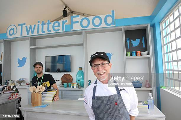 Chef Rick Bayless poses at the Goya Foods Grand Tasting Village featuring MasterCard Grand Tasting Tents KitchenAid® Culinary Demonstrations during...