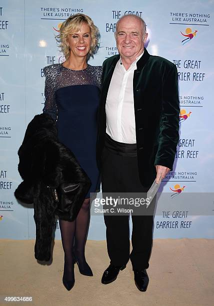 Chef Rick Stein and Sarah Burns arrive on the sand carpet at Australia House attending the special screening event of David Attenborough's new series...