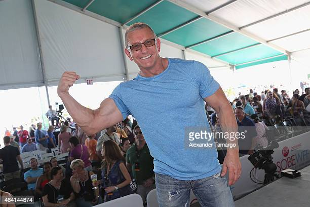 Chef Robert Irvine onstage at the KitchenAid Culinary Demonstrations during the 2015 Food Network Cooking Channel South Beach Wine Food Festival...