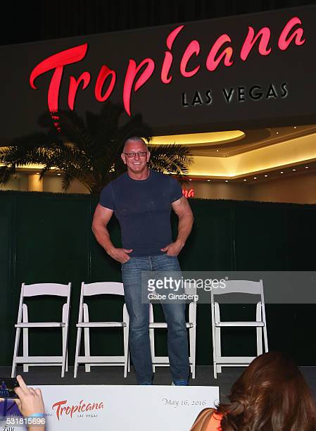 Chef Robert Irvine speaks at a press conference to announce his new restaurant concept at the Tropicana Las Vegas on May 16 2016 in Las Vegas Nevada