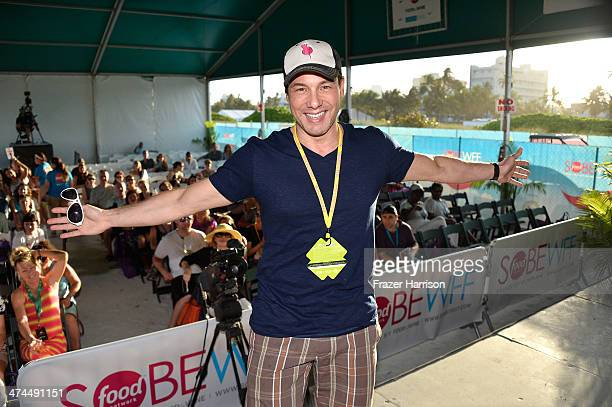 Chef Rocco DiSpirito attends KitchenAid® Culinary Demonstrations during the Food Network South Beach Wine Food Festival at Grand Tasting Village on...
