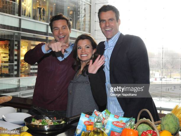 Chef Rocco DiSpirito with actors Melissa Claire Egan and Cameron Mathison from All My Children launch the Dinner and Your Movie contest on March 5...