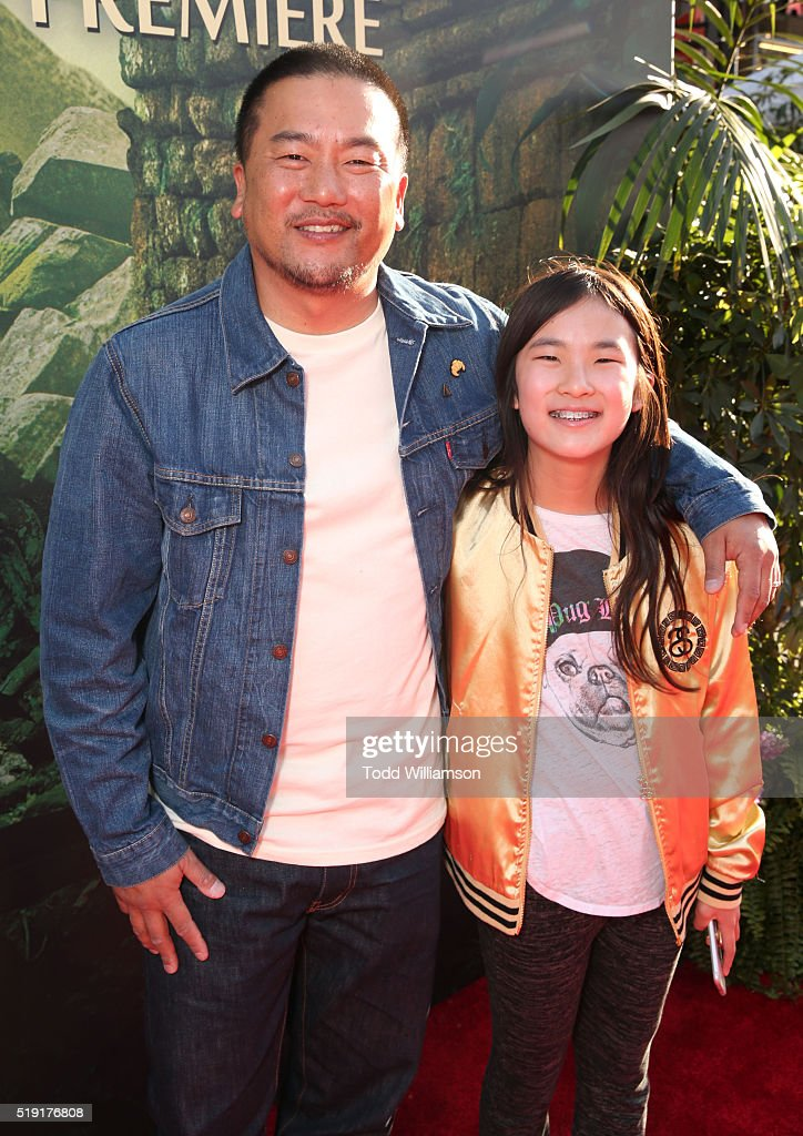 Photo of Roy Choi  & his  Daughter  Kaelyn Choi