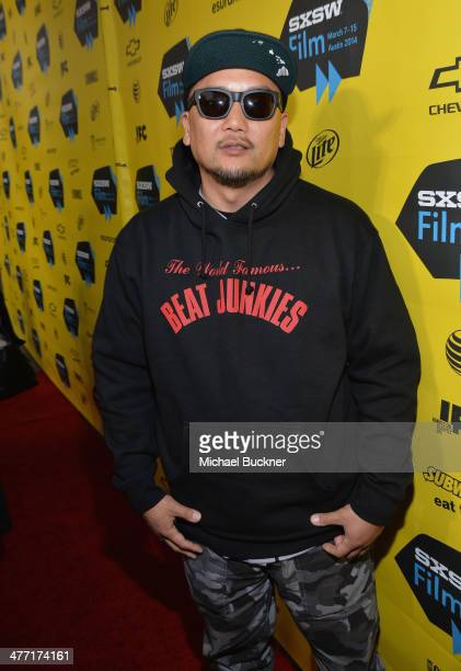 Chef Roy Choi arrives at the premiere of 'Chef' during the 2014 SXSW Music Film Interactive Festival at the Paramount Theatre on March 7 2014 in...