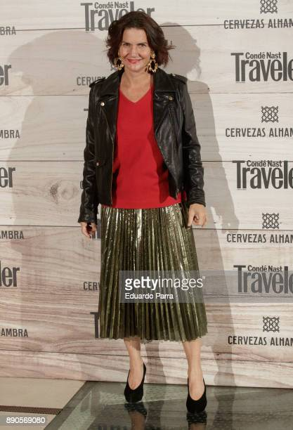 Chef Samantha VallejoNagera attends the 'Conde Nast Traveler Gastronomic and Wine Guide' photocall at Florida Retiro on December 11 2017 in Madrid...
