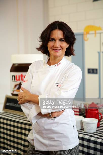 Chef Samantha VallejoNagera attends the 'Nutella' photocall at the Consulate of Italy on November 24 2017 in Madrid Spain