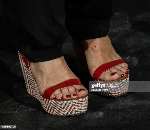 Chef Samatha VallejoNagera shoes detail attends the 'Icon Design magazine' photocall at Lazaro Galdiano museum on June 12 2017 in Madrid Spain