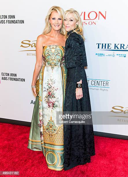 Chef Sandra Lee and actress Judith Light attend Elton John AIDS Foundation's 14th Annual An Enduring Vision Benefit at Cipriani Wall Street on...