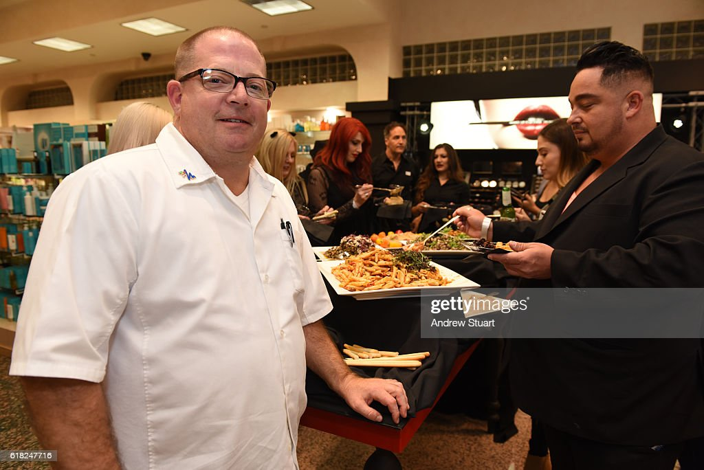 Chef Scot Jones of Crossroads restaurant, catering the Kat Von D Beauty Launch Party at Naimie's Beauty Center on October 25, 2016 in Los Angeles, California.