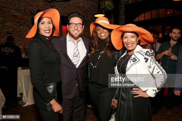 Chef Scott Conant poses with guests during Aperitivo hosted by Scott Conant at The Standard High Line on October 13 2017 in New York City
