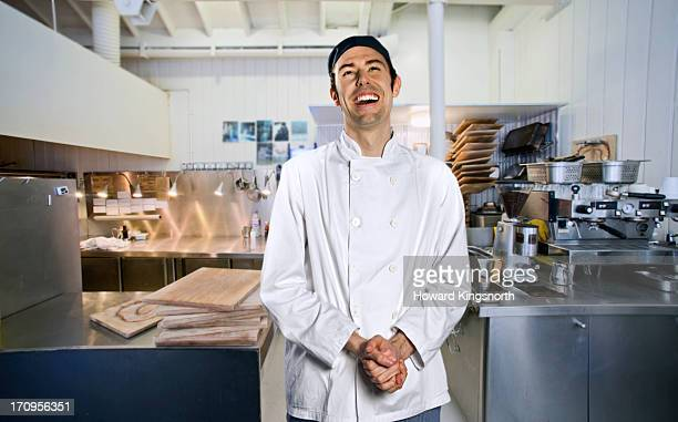 chef smiling to camera - chef stock pictures, royalty-free photos & images