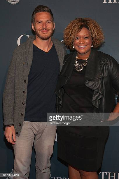 Chef Spike Mendelsohn and television personality Sunny Anderson attend The Hill's and Entertainment Tonight's celebration of the 100th White House...