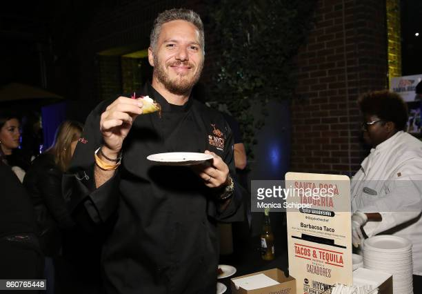 Chef Spike Mendelsohn attends the Food Network Cooking Channel New York City Wine Food Festival Presented By CocaCola Tacos Tequila presented by...