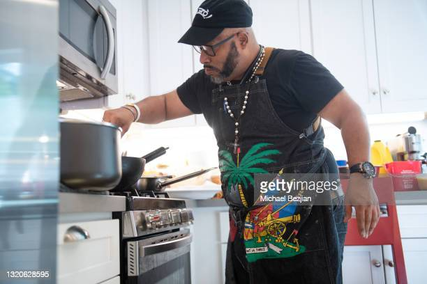 Chef Stephane Durand attends The Artists Project Giveback Day on May 28, 2021 in Los Angeles, California.