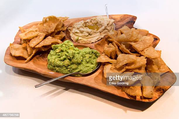 Chef Stephanie Izard's guacamole and hummus at Little Goat Diner on August 1 2015 in Chicago Illinois