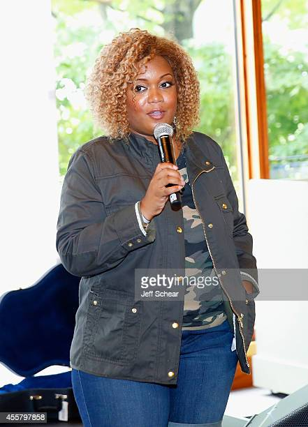 Chef Sunny Anderson speaks at Food Network in Concert on September 20 2014 in Chicago United States