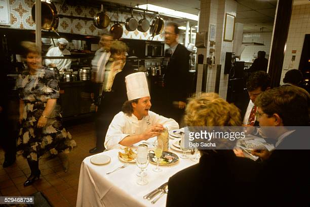 Chef Talking with Diners