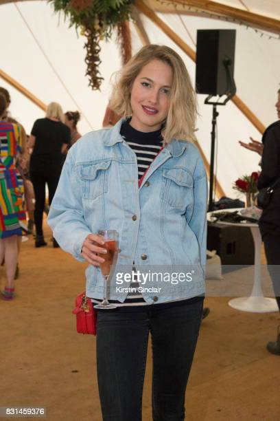 Chef Tess Ward at the Veuve Clicquot Champagne Bar Wilderness Festival on August 4 2017 in Cornbury Park Oxford England