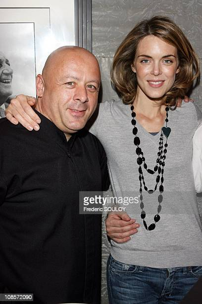 Chef Thierry Marx and Julie Andrieu in Paris France on October 23 2008