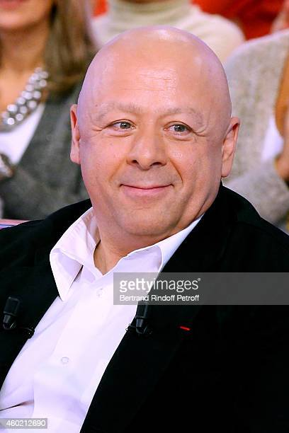 Chef Thierry Marx attends the 'Vivement Dimanche' French TV Show at Pavillon Gabriel on December 9 2014 in Paris France