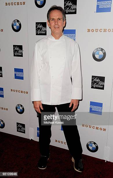 Chef Thomas Keller attends the grand opening party for his restaurant Bouchon on November 16 2009 in Beverly Hills California