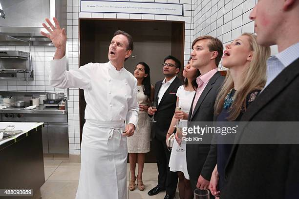 Chef Thomas Keller gives a tour of the kitchen at Starwood Preferred Guest's Gourmet Experience of a Lifetime with Chef Thomas Keller at Per Se for...