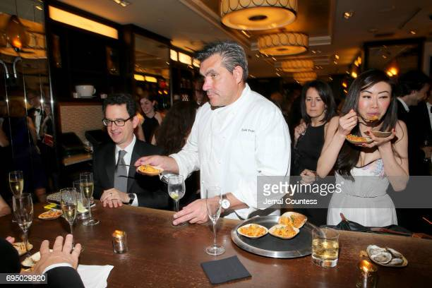 Chef Todd English serves the guests of the 2017 Tony Awards Gala at The Plaza Hotel on June 11 2017 in New York City