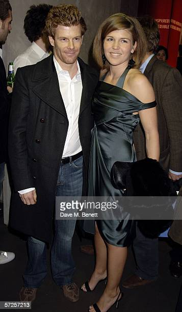 Chef Tom Aikens and Amber Nuttall attend the Giorgio Armani Spring Preview show previewing spring Emporio Armani 2006 collection alongside latest...