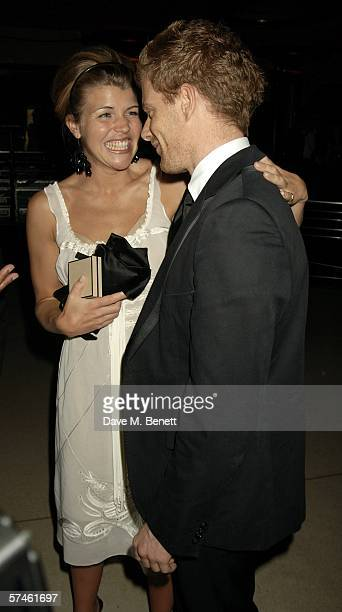 Chef Tom Aikens and PR Amber Nuttall attend the Royal Court Theatre's 50th anniversary party at Titanic on April 26 2006 in London England