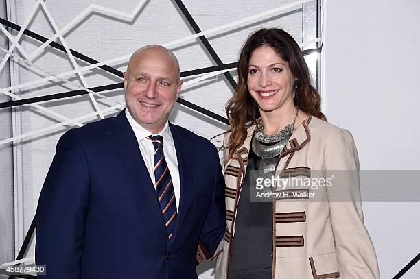 Chef Tom Colicchio and Filmmaker Lori Silverbush attend The Museum of Modern Art's 2014 Film Benefit Honoring Alfonso Cuaron at The Museum of Modern...