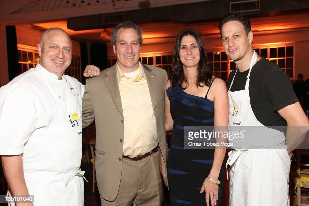 Chef Tom Colicchio Jay Scott Liz Scott and actor Josh Charles attend Lemon NYC A Culinary Event to Fight Childhood Cancer at Industria Superstudio on...