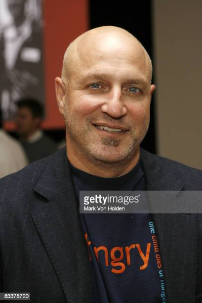 Chef Tom Colicchio poses for a picture at the City Harvest's Bid Against Hunger Benefit at Metropolitan Pavilion on October 21, 2008 in New York City.