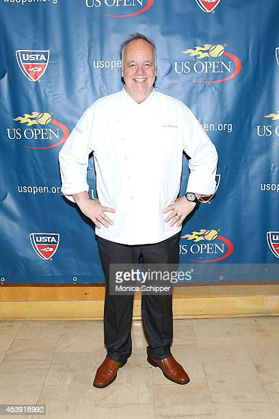 Chef Tony Mantuano attends the US Open Food Tasting Preview at Aces Restaurant on August 21 2014 in New York City