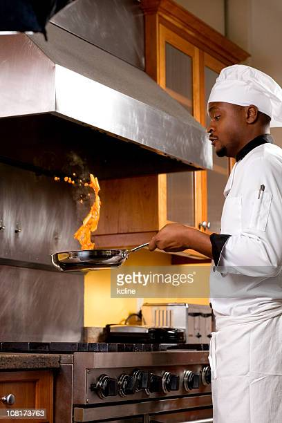 Chef Tossing Food in a Pan