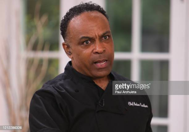 Chef / TV Personality Andre Carthen visits Hallmark Channel's Home Family at Universal Studios Hollywood on March 13 2020 in Universal City California