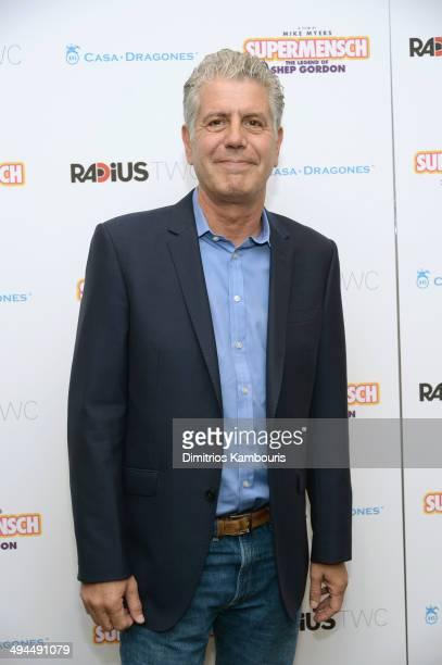 Chef TV Personality Anthony Bourdain attends the ''Supermensch The Legend Of Shep Gordon' screening at The Museum of Modern Art on May 29 2014 in New...