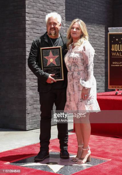 Chef / TV Personality Guy Fieri and his Wife Lori Fieri attend the ceremony to honor Guy Fieri with a Star on the Hollywood Walk of Fame on May 22...