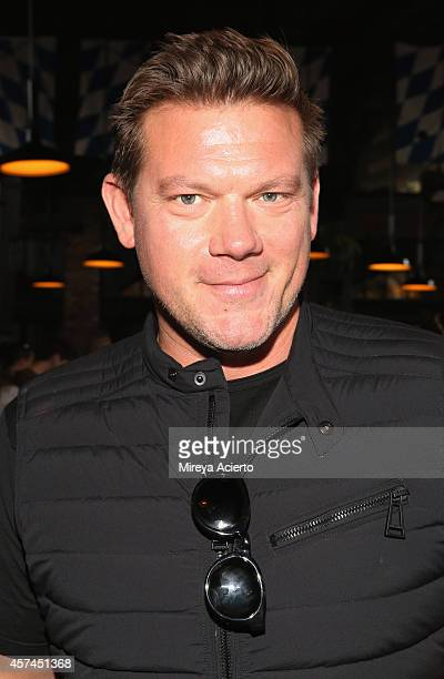 Chef Tyler Florence attends The Lobster Place Presents Oyster Bash sponsored by Negra Modelo hosted by Tyler Florence during the Food Network New...