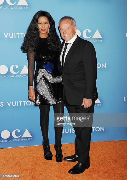 Chef Wolfgang Puck and designer Gelila Assefa arrive at the 2015 MOCA Gala presented by Louis Vuitton at The Geffen Contemporary at MOCA on May 30,...
