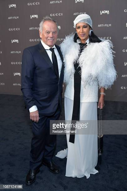 Chef Wolfgang Puck and designer Gelila Assefa attend 2018 LACMA Art Film Gala honoring Catherine Opie and Guillermo del Toro presented by Gucci at...