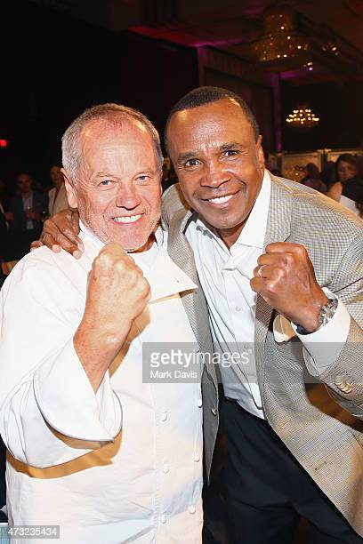 Chef Wolfgang Puck and former boxer Sugar Ray Leonard attend B Riley Co And Sugar Ray Leonard Foundation's 6th Annual Big Fighters Big Cause Charity...