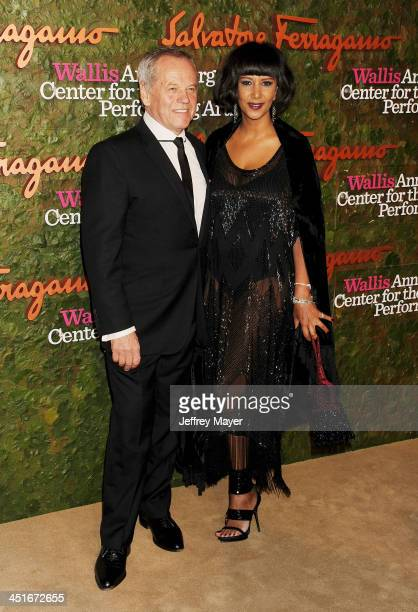 Chef Wolfgang Puck and Gelila Assefa arrive at the Wallis Annenberg Center For The Performing Arts Inaugural Gala at Wallis Annenberg Center for the...