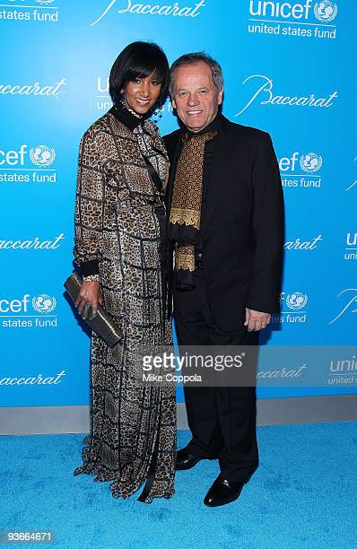 Chef Wolfgang Puck and Gelila Assefa attend the 2009 UNICEF Snowflake Ball at Cipriani 42nd Street on December 2 2009 in New York City