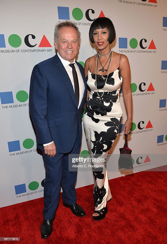 """Chef Wolfgang Puck (L) and Gelila Assefa attend """"Yesssss!"""" MOCA Gala 2013, Celebrating the Opening of the Exhibition Urs Fischer, at MOCA Grand Avenue and The Geffen Contemporary on April 20, 2013 in Los Angeles, California."""